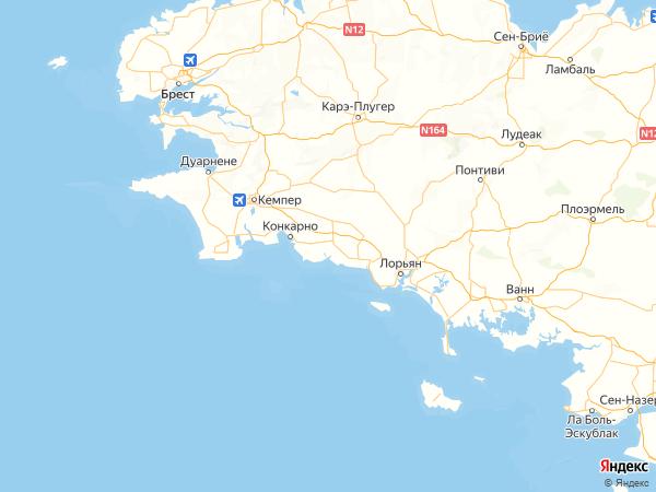 Рьек-сюр-Белон на карте