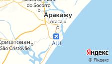 Отели города Аракажу на карте