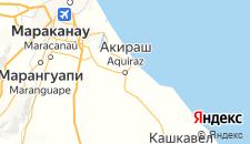 Отели города Акирас на карте