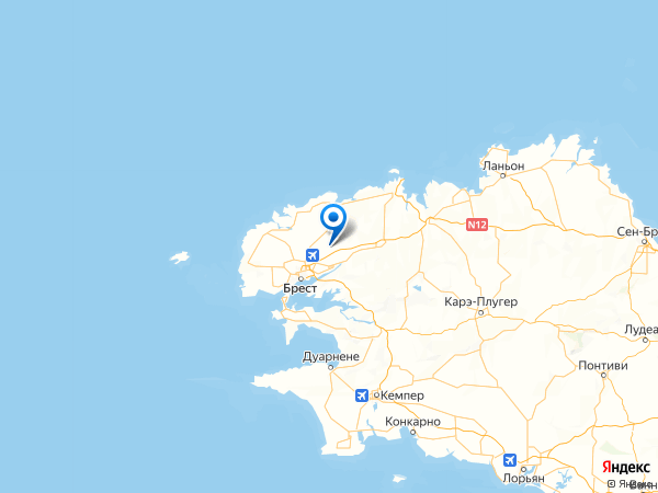 Сен-Тонан на карте