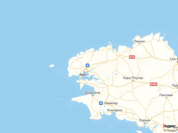 Гипава на карте