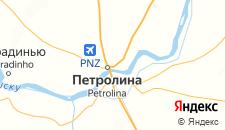 Отели города Петролина на карте