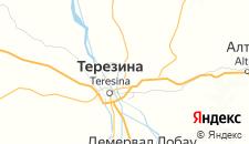Отели города Терезина на карте