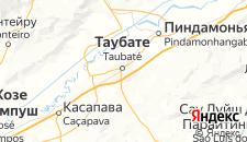 Отели города Таубате на карте