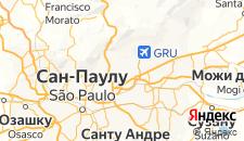 Отели города Гуарульюс на карте