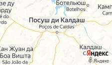 Отели города Посус-ди-Калдас на карте