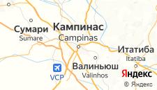 Отели города Кампинас на карте