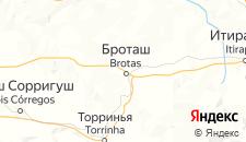 Отели города Бротас на карте