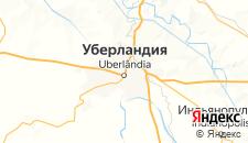 Отели города Уберландия на карте