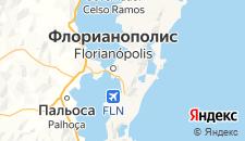 Отели города Флорианополис на карте