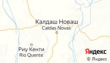 Отели города Калдас-Новас на карте
