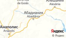 Отели города Абадиания на карте