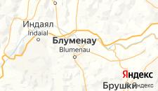 Отели города Блуменау на карте