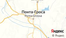 Отели города Понта-Гросса на карте