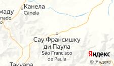 Отели города Сан-Франсиску-ди-Паула на карте