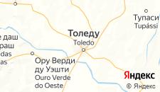 Отели города Толедо на карте