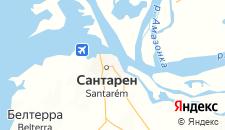 Отели города Сантарен на карте