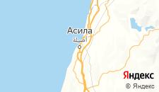Отели города Асила на карте