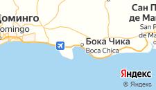 Отели города Бока-Чика на карте