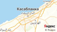 Отели города Касабланка на карте