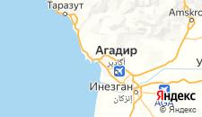 Отели города Агадир на карте