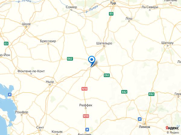 Фонтейн-ле-Конт на карте