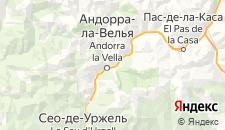 Гостиницы города Эскалдес-Энгорданы на карте