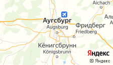 Отели города Аугсбург на карте