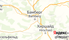 Отели города Бамберг на карте