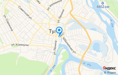 Местоположение на карте пункта техосмотра по адресу Иркутская обл, г Тулун, ул Ийская, зд 41