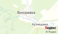 Отели города Вихоревка на карте