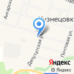 Почтовое отделение на карте Братска
