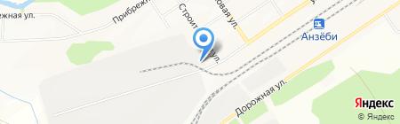 8 отряд ФПС по Иркутской области на карте Братска