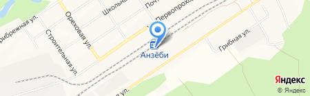 Анзёби на карте Братска