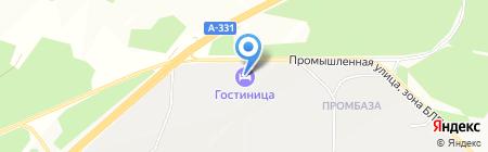 Мотель на карте Братска