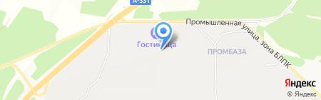 Магистраль Шина на карте Братска