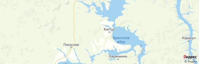 Иркутская область на карте