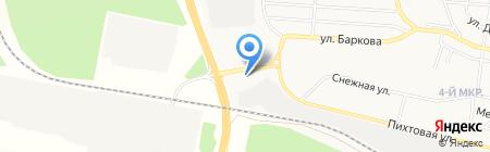 Платная автостоянка на карте Братска