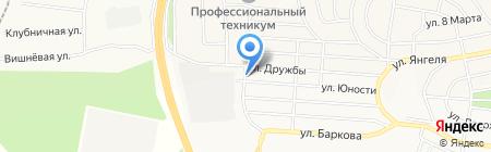 По пути на карте Братска