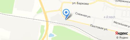 Автострада на карте Братска