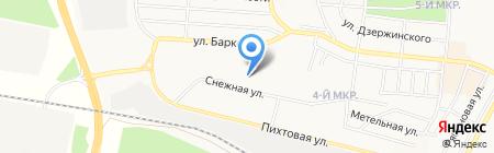 Средняя общеобразовательная школа №9 им. М.И. Баркова на карте Братска