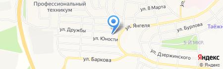 Нуга Бест на карте Братска