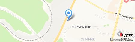 Авторай на карте Братска