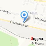 Пихтовый на карте Братска