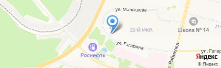 Ремонтная мастерская на карте Братска