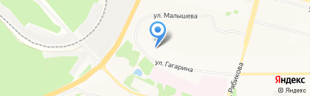 Сфера грузоперевозок на карте Братска