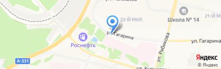 Гагаринская на карте Братска