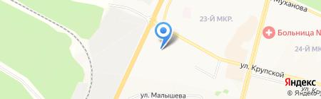 ДоКа на карте Братска