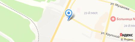 АЗС Илим-Роско на карте Братска