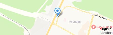Караван на карте Братска